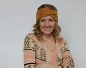 Gold Chunky Knit Headwrap