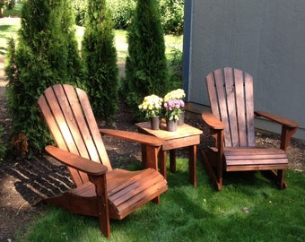 All cedar Adirondack chair.   The most comfortable chair.