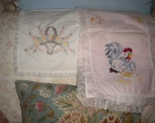Lovely Set of Embroidered Scarves, Eclectic, Baby's Room, Whimsical