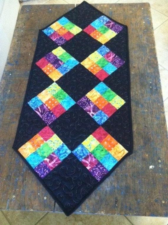 PATTERN Fun Easy Table Runner quilt black weekend