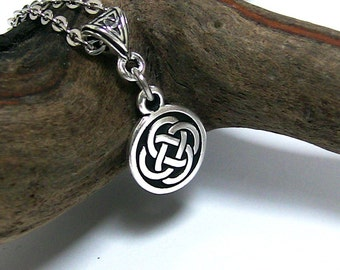 Celtic Necklace, Celtic Knot Necklace, Silver Celtic Jewelry