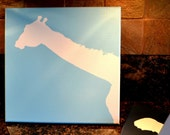 GIRAFFE Painting on Canvas in Silhouette