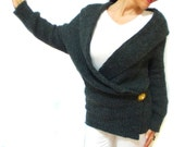 Grey Ladies Cardigan, Long Plus size, Breasted Stylish High Fashion Top Wear Girly, Pregnant top