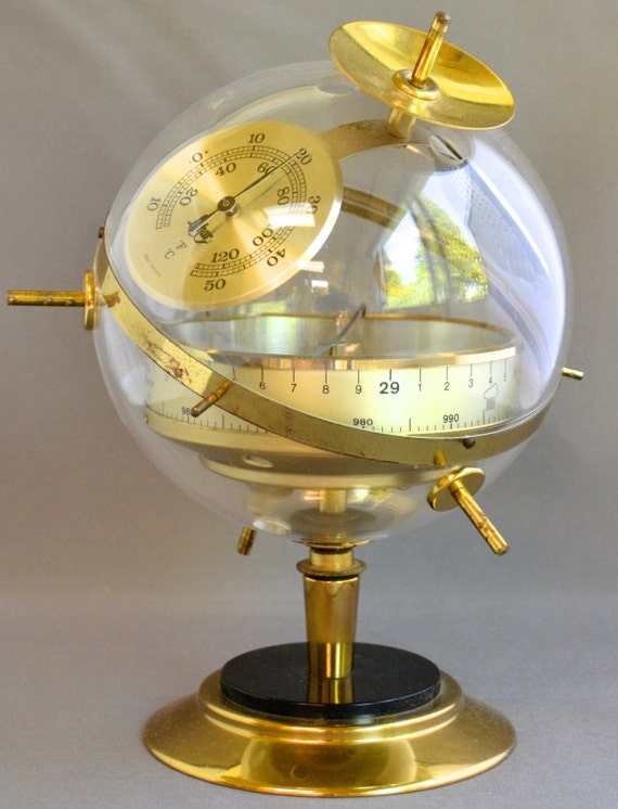 Danish Modern Mid Century Sputnik Weather Station Hygrometer