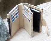 iPhone4/ The Star Master magnetic ivory wallet with case/ mini zip/ money pocket and camera hole