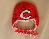 Crocheted Reds or Cardinals Inspired Baby Beanie/Hat - MADE TO ORDER - Handmade by Me