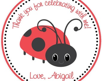 Lady Bug Favor Tags