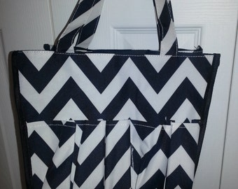 Chevron Organizational Tote, Black tote