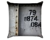 "Metal Rivets 2 - Original Photo Sofa Throw Pillow Envelope Cover for 18"" inserts"