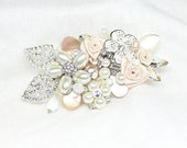 Blush Hair Accessories- Blush Hair Accessories- Blush Floral Hairpiece- Bridal Hair Comb- Soft Pink Bridal Comb- Blush Fantasy Hair clip
