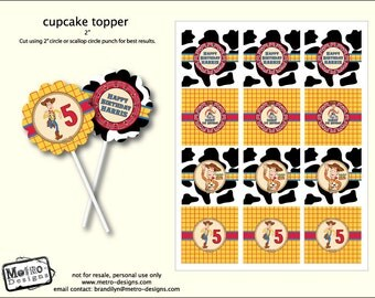 Woody, Toy Story Cupcake Toppers