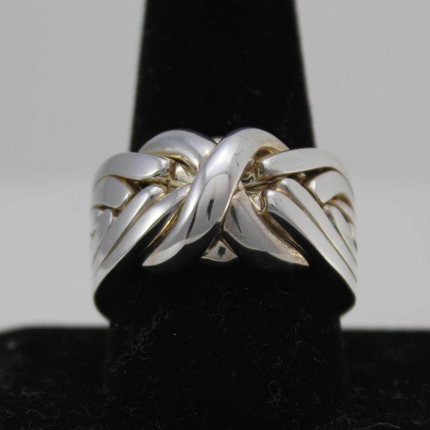 sterling silver 7 band puzzle ring rasnick jewelry