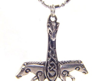 Thor's Hammer Necklace Pewter  Pendant Viking Norse Mjollnir Pagan Wicca  0143K