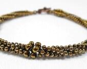 Metallic Bronze Herringbone Bracelet