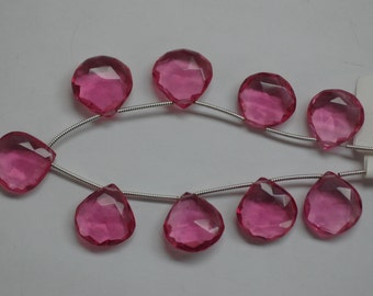 Hydro Quartz Pink Hearts Faceted