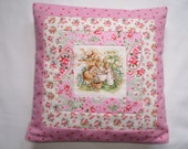 Beatrix Potter's Flopsy Mopsy Bunnies Nursery Cushion with Cath Kidston Fabrics