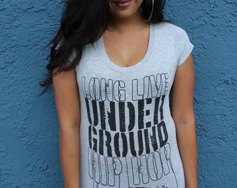 Long Live Underground Hip Hop Ladies BabyDoll TShirt
