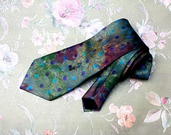 Tasteful Tie, Vintage Tie, Tie for Men, Floral Tie, Spotted Tie, Retro Tie, Chic Tie, Best-Man Tie, Groomsman Tie,Boho Tie,Men's Accessories