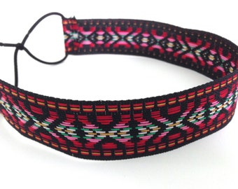 Black, Red, and Blue Tribal Mexican Headband