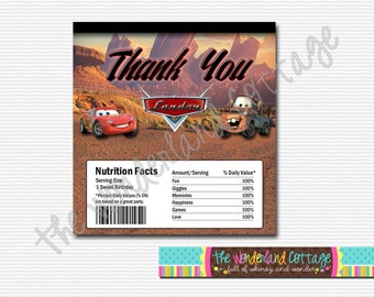 Disney Cars Candy Chocolate Bar Wrapper