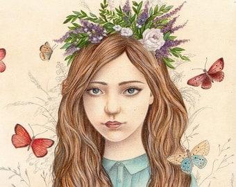 Butterflies, Art Print, Watercolor Art, Wall Art, Bedroom Decor, Girls Bedroom Art, Whimsical Art, Home Decor, Girls Gift, Butterfly Art