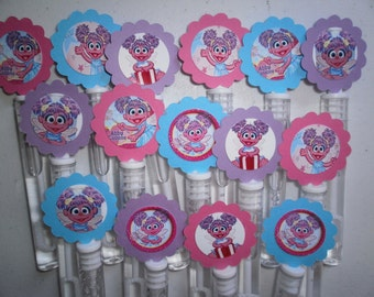 Abby Cadabby party favors, Abby Cadabby birthday favors bubble wands set of 12