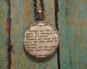 Matthew 5: 3-4  Handcrafted Scripture Pendant