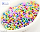 20g 9/0 Seed Beads Mixed Colorful Bright Czech Seed Bead Rocailles NR 200 Opaque 9/0 Mix seed beads Mixed rocailles Opaque seed beads