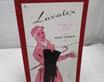 Original Vintage french Carboard Paris Department Store Advertisement 50s w590