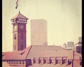 Architecture Photo Union Station Portland Oregon--Fine Art Photography 8x8