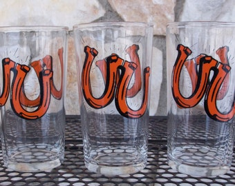 Vintage Continental Can Company Horseshoe Bar Glasses