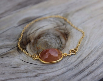 "Copper Oval Rutilated Quartz ""Unity"" Bracelet"