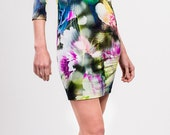 Viscose jersey floral printed dress