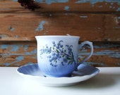 Danish Vintage Christineholm Porcelaine Teacup and Saucer