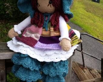 Bella Dorella Raggedy Lottie ragdoll doll knitted doll PATTERN