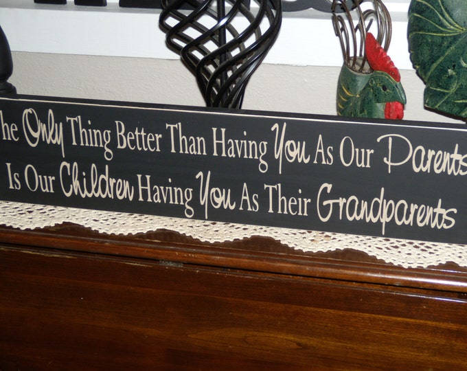 Mothers Day From Daughter, Mom Gift, Grandparents Sign, Personalized, The Only Thing Better Than Having You As Parents, You As Grandparents