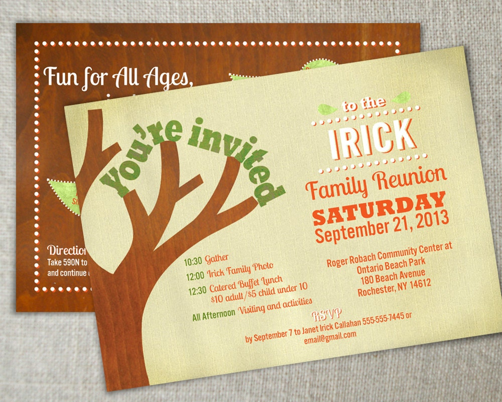 Family reunion invitation // Family gathering by PearTreeSpace