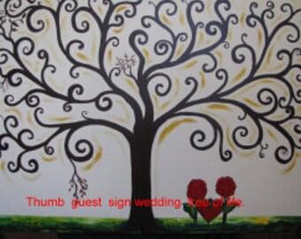 "Wedding Tree of Life Guestbook Alternative 36""x 48"""