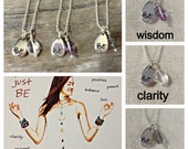Just BE Charm Necklace - Clarity, Strength, Wisdom - ZEN by Karen Moore Positive Energy Jewelry