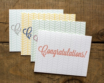 Bright Congratulation Note Cards - Set of 8