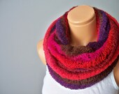 Multi-Functional Scarf - Open Ended or Tube -  Multicolored - Shades of Autumn