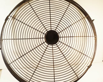 Vintage Steampunk Black Fan Cage