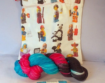 Block People themed Gift Package on Max 80/20 SW Merino/nylon 2