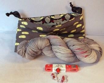 Gray Ninja Gift Package on Max 80/20 SW Merino/nylon Gift Pack