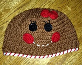 Gingerbread Boy or Gingerbread Girl Beanie