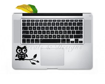 Cute Owl Macbook Keypad Decal for Animal Lovers and Bird Watchers