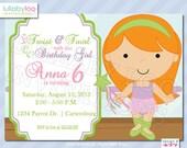 Ballet Birthday Invitations -Printed Birthday Invitations - Custom Invitations Invitations - Printed Invitations - Custom Invitations