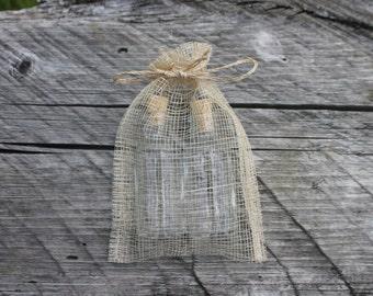 Abaca Fiber Drawstring Bags - 4 x 6 -Belle Savon Vermont