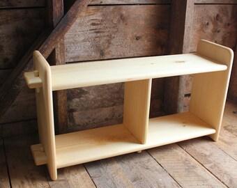Custom solid wood shelf unit. Montessori Inspired