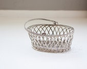 Woven Wire Basket with Handle